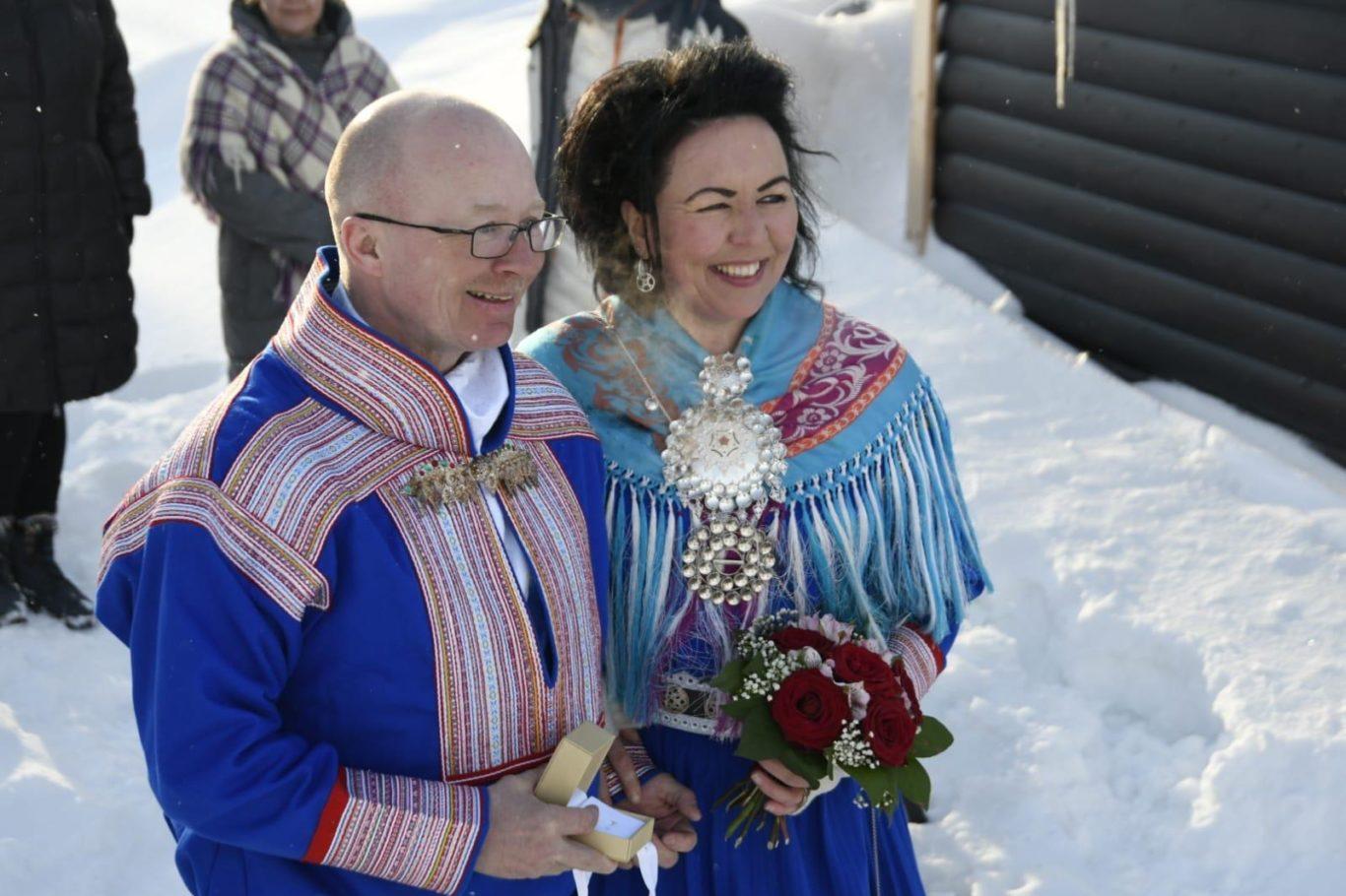 Arctic Land Adventure saamelaiset häät Mia ja nils-matti vasara