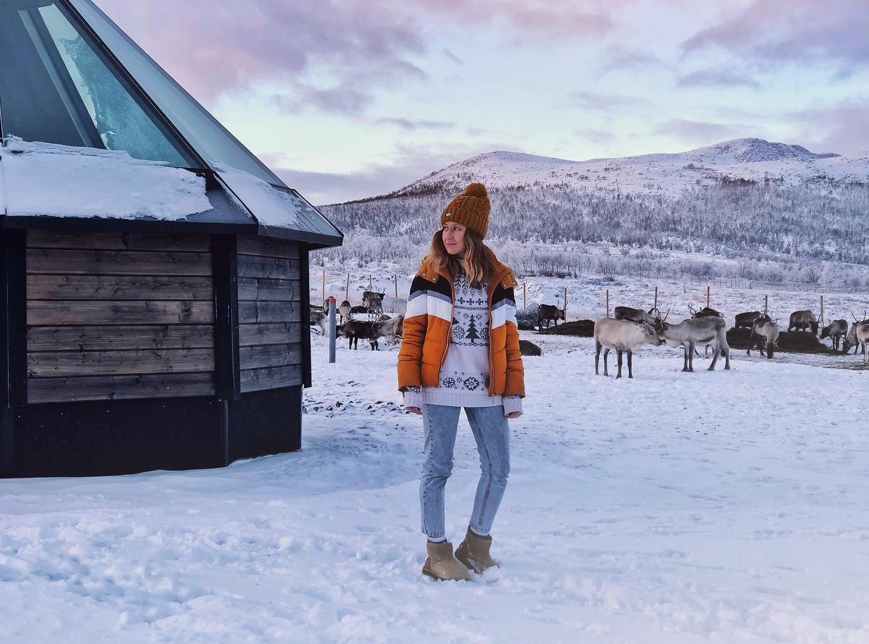 Arctic Land Adventure porot iglujen pihassa
